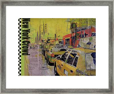 Ny City Collage Framed Print by Corporate Art Task Force