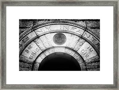 Ny Infantry Framed Print by John Rizzuto