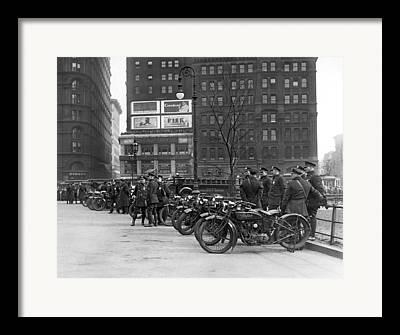 Police Officer Photographs Framed Prints