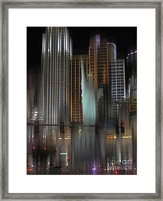 Ny Ny Las Vegas Surreal Framed Print