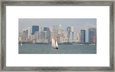 Ny City Skyline Framed Print