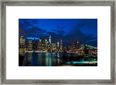 Ny Skyline From Brooklyn Heights Promenade Framed Print