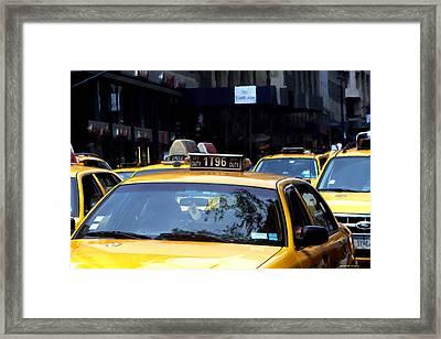 Ny Streets - Yellow Cabs 2 Framed Print