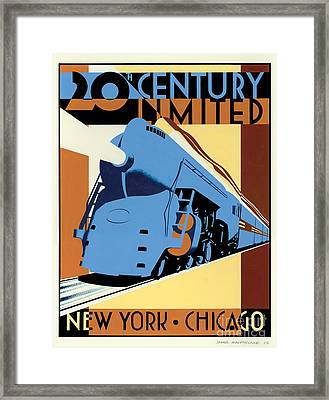 Ny To Chicago Framed Print