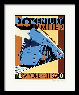 20th Century Digital Art Framed Prints
