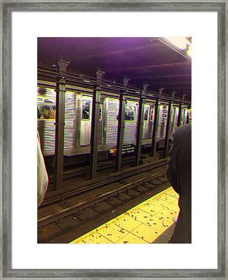 Ny Underground Feel Framed Print by Li   van Saathoff