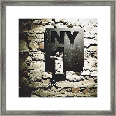 NY1 Framed Print by Natasha Marco