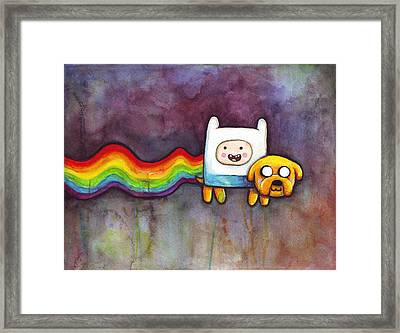 Nyan Time Framed Print by Olga Shvartsur