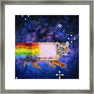 Nyantiger Nyancat Two Point Oh Framed Print by David Starr