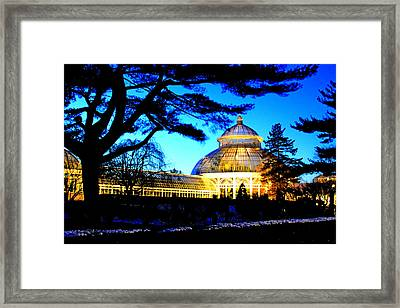 Framed Print featuring the photograph Nybg Winter Scene by Aurelio Zucco