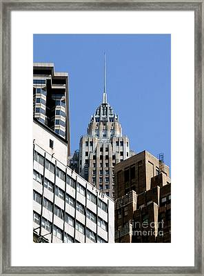 Nyc 1 Framed Print by Bob Stone