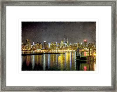 Nyc At Night Framed Print