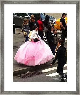 Nyc Ball Gown Walk Framed Print by Susan Garren