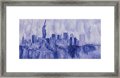 NYC Framed Print by Bayo Iribhogbe