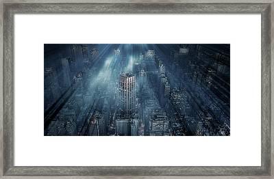 Nyc Blue Impact Framed Print