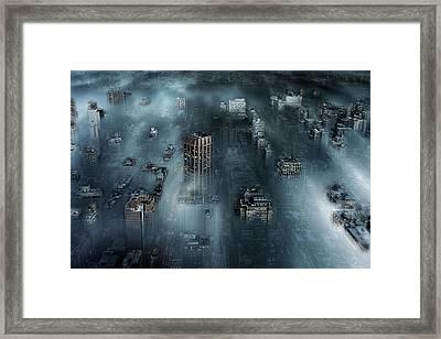 Nyc Blue Framed Print