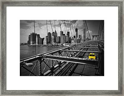 Nyc Brooklyn Bridge View Framed Print