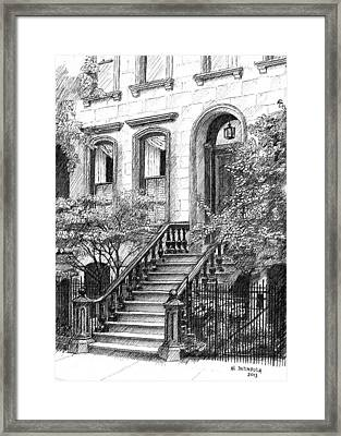Nyc Brownstone Framed Print