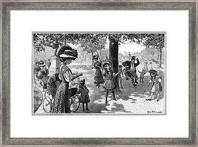 Nyc Central Park, 1900 Framed Print
