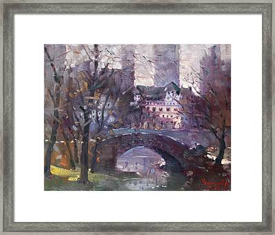 Nyc Central Park II Framed Print by Ylli Haruni