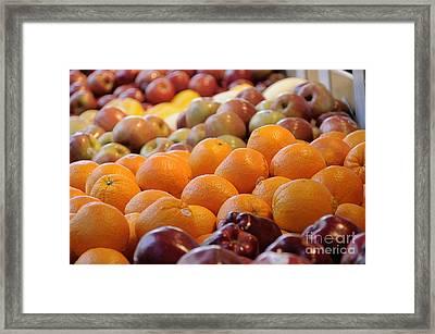 Nyc Chinatown Market Framed Print by Bob Stone
