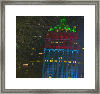 Nyc Christmas Time Framed Print by Sue Rosen