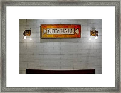 Nyc City Hall Subway Station Framed Print by Susan Candelario