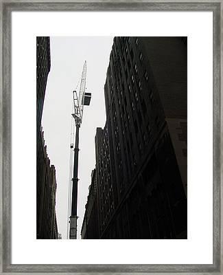 Nyc Constraction Framed Print by Mieczyslaw Rudek Mietko