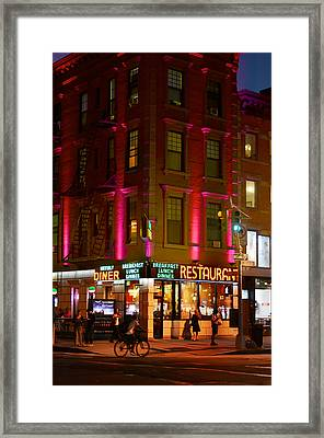 Waverly Diner Framed Print by Laura Fasulo