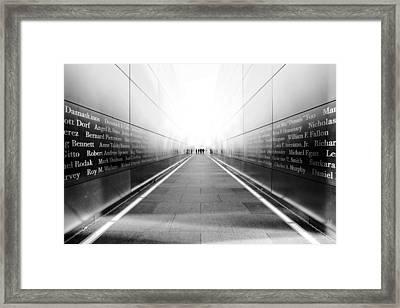 Nyc Empty Sky Framed Print