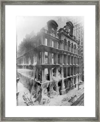 Nyc, Equitable Life Assurance Fire Framed Print by Science Source
