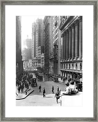 Nyc Financial District Framed Print by Underwood Archives