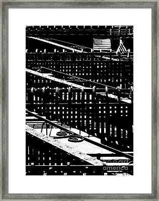 Framed Print featuring the photograph Nyc Fire Escape by Robert Riordan