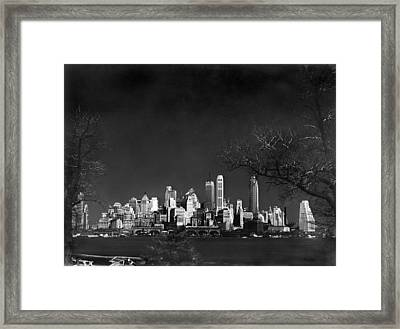 Nyc From Governors Island Framed Print by Underwood Archives