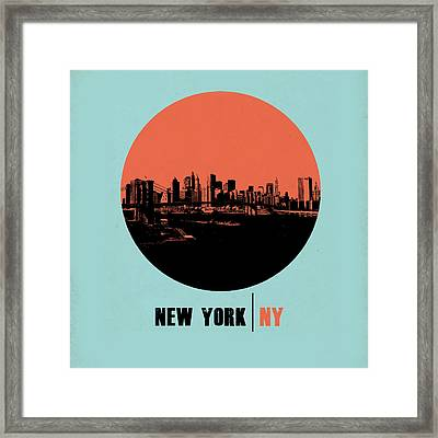 Nyc Gallery Cover Framed Print by Naxart Studio