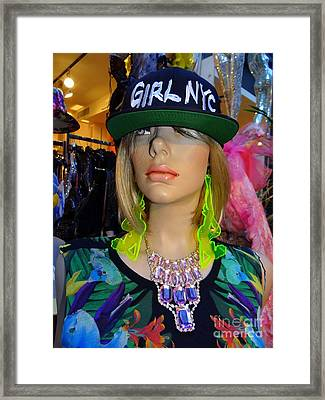 Nyc Girl Framed Print by Ed Weidman