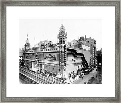 Nyc, Hippodrome Theatre, 1910 Framed Print