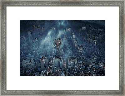 Nyc Framed Print by Leif L?ndal