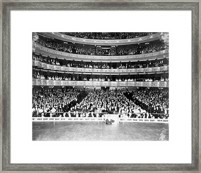 Nyc, Metropolitan Opera House Audience Framed Print by Science Source