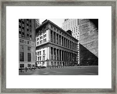Nyc National City Bank Framed Print by Granger