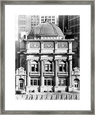 Nyc, New York Clearing House, 1912 Framed Print by Science Source