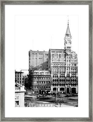 Nyc, New York Tribune Building, 1870s Framed Print