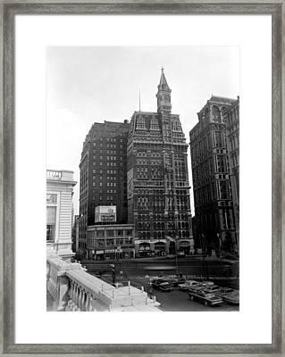 Nyc, New York Tribune Building, 1966 Framed Print