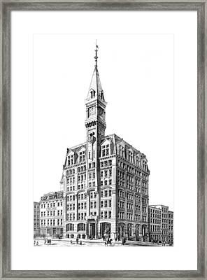 Nyc, New York Tribune Building Design Framed Print