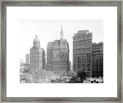 Nyc, Newspaper Row, 1900-10 Framed Print