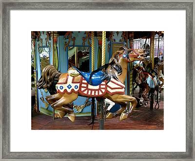 Nyc - Old Glory Pony Framed Print by Richard Reeve