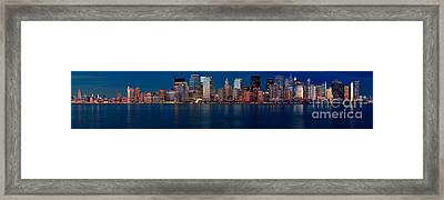 Nyc Pano Framed Print by Jerry Fornarotto