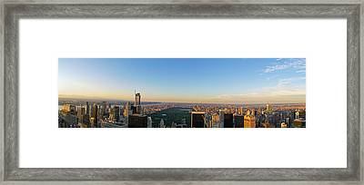 Nyc Panorama Framed Print by Rima Biswas