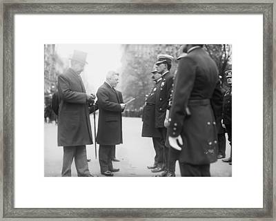 Nyc Police Parade, C1908 Framed Print by Granger