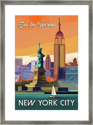 Nyc Framed Print by P.s